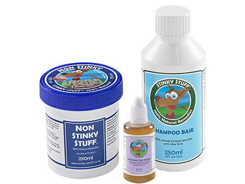Dog Non Stinky Pack + Ear Drops